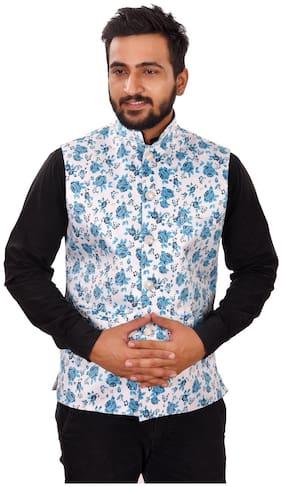 Men Printed Blended Ethnic Jacket Pack Of 1