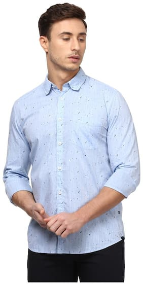 Men Slim Fit Printed Casual Shirt