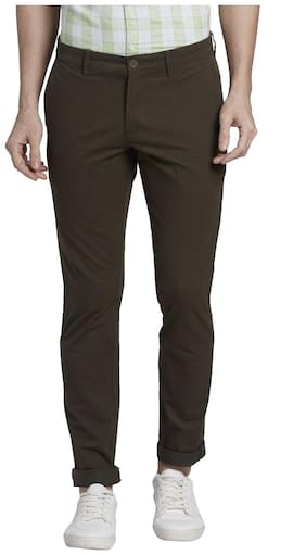 Men Tapered Fit Regular Trousers Pack Of 1