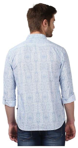 Cotton Slim Blue Shirt Fit Men Parx xpo5s8fPvZ