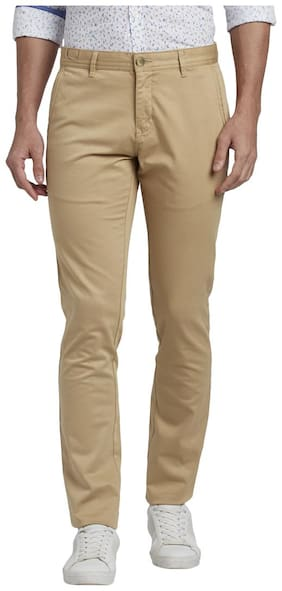 Men Tapered Fit Regular Trousers