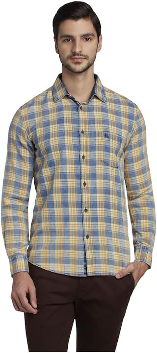 Parx Men Multi Checked Slim Fit Casual Shirt
