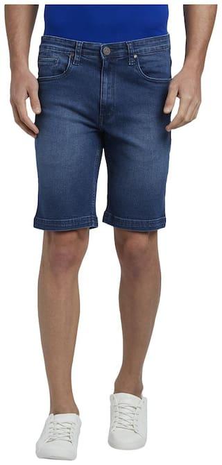 Parx Men Blue Regular Fit Regular Shorts