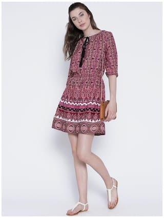Patterned shift shift dress Patterned Patterned dress 8FPrq8B