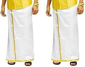 THARUN Handloom Solid Mundu & Regular dhoti Dhoti - White