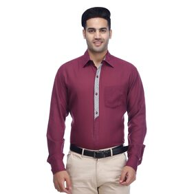 PAUL JACKSON Men Slim Fit Casual shirt - Purple