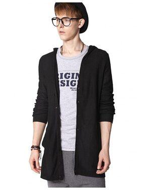 Pause Men Cotton Regular Fit Jacket - Black