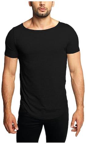 Men Scoop Neck Solid T-Shirt Pack Of 1