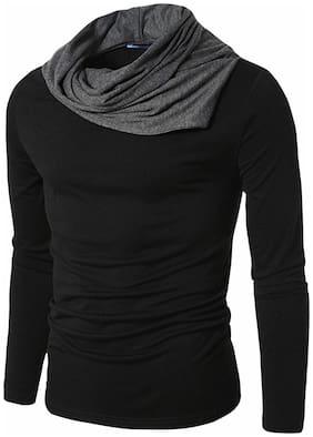 Men Cowl Neck Solid T-Shirt