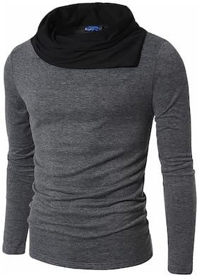 Men High Neck Self Design T-Shirt Pack Of 1