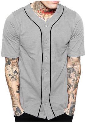 Men V Neck Solid T-Shirt Pack Of 1