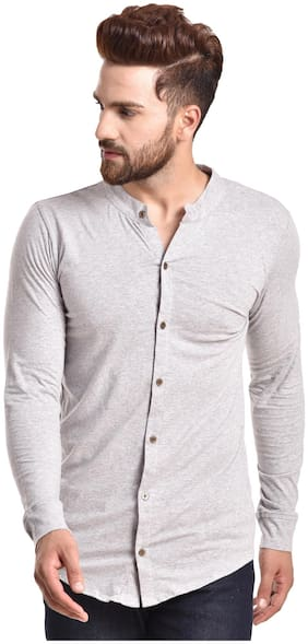 Men Slim Fit Solid Casual Shirt