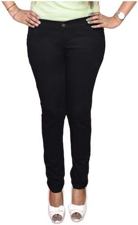 NJ's Women Black Straight fit Jeans
