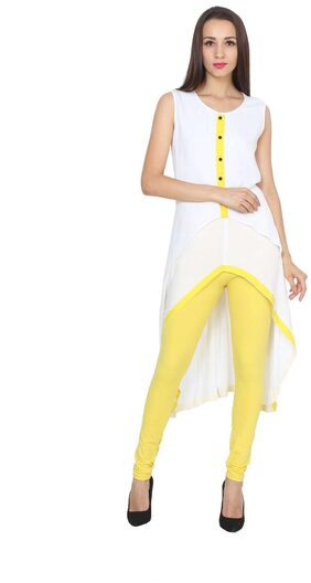 Pearly women's high low smart fit a-line flaired kurti