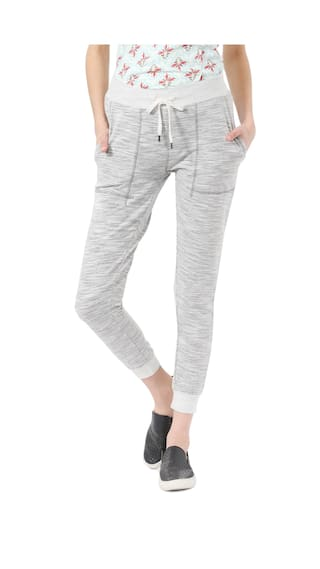 People Blended Regular Fit Grey Casual Trouser