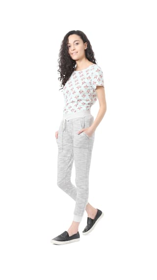 Grey Casual Trouser Blended Regular Fit People CgwaqPH