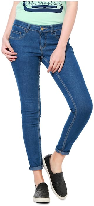 People Women Blue Relaxed fit Jegging