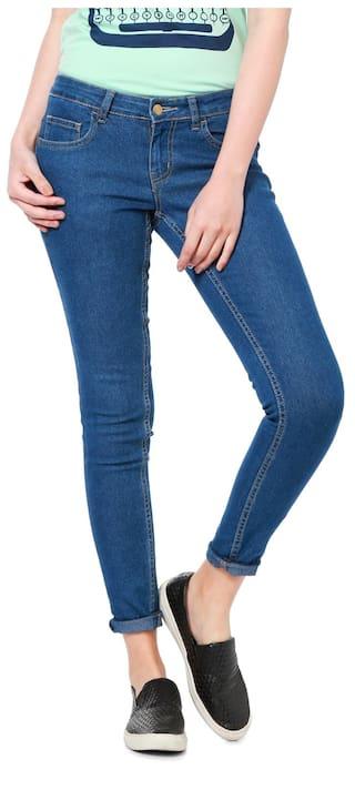 People Blended Regular Blue Jeans & Jeggings