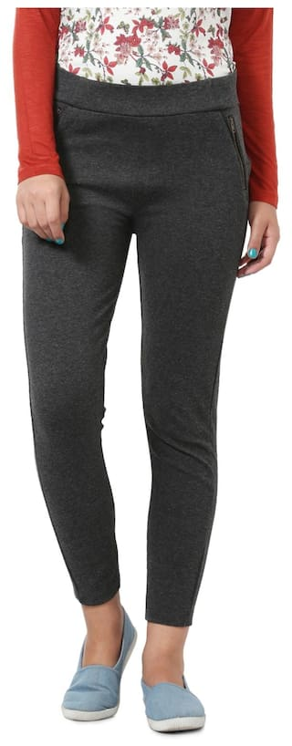 Grey People Trouser Blended Casual Regular wxHzfPB