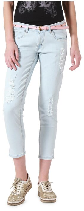 People Women Slim Fit Mid Rise Solid Jeans - Grey