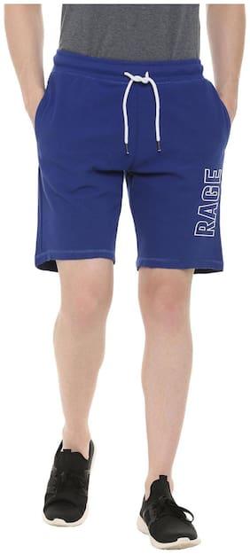 Men Solid Regular Shorts