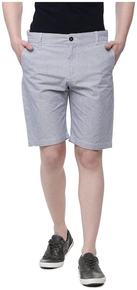 Men Striped Chinos Shorts