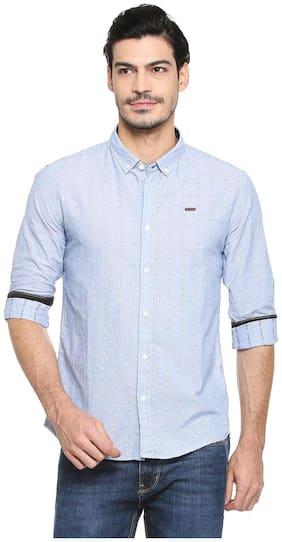 Men Regular Fit Vertical Stripes Casual Shirt