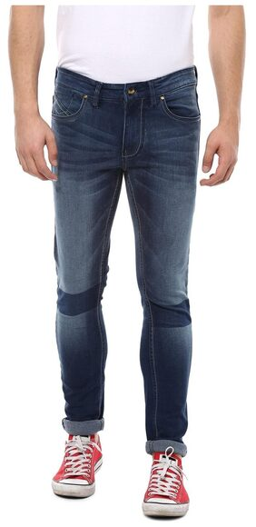 People Men Mid Rise Skinny Fit ( Ultra Slim Fit ) Jeans - White