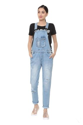 People Solid Dungaree - Blue
