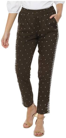 Women Printed Regular Trousers