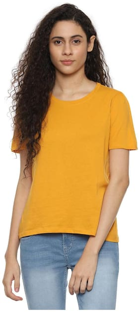 Women Self Design Round Neck Top