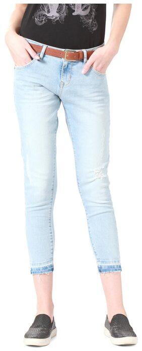 People Cotton Slim Fit Blue Jeans