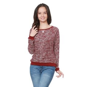 People Cotton Red Sweater