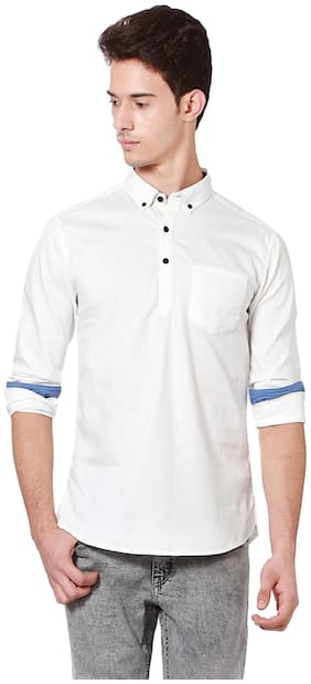 Men Slim Fit Abstract Casual Shirt
