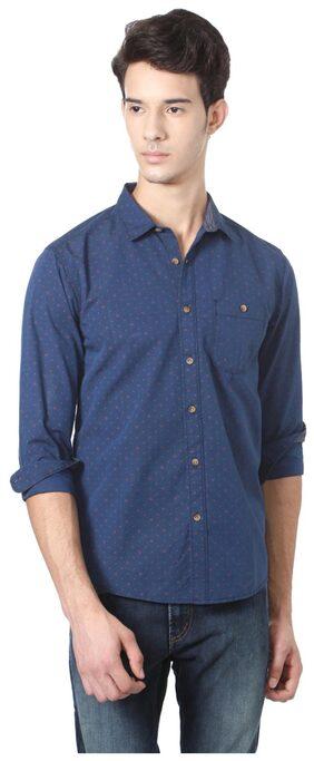 People Men Slim Fit Casual shirt - Blue