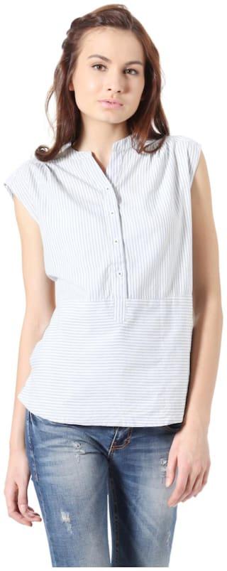 People Women Solid Regular top - White