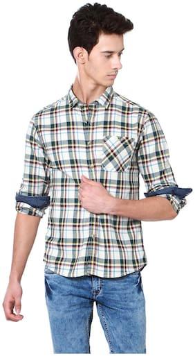 Men Regular Fit Abstract Casual Shirt