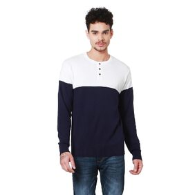 People Cotton Regular Blue Sweaters & Pullovers
