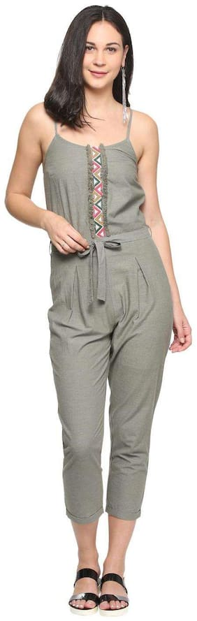 Women Embroidered Jumpsuit