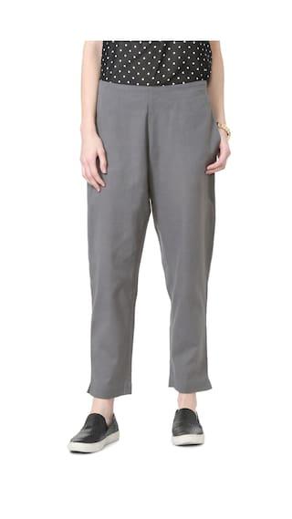 People Grey Casual Pants
