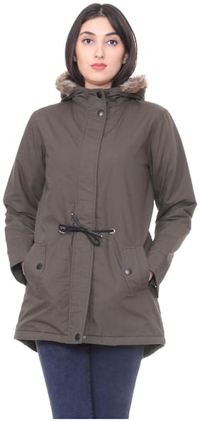 Women Cotton Regular FIt Coat