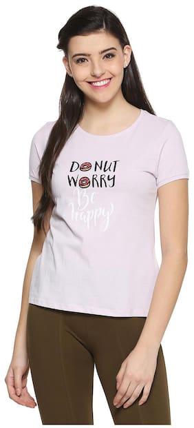 People Geometric Pink T Shirt