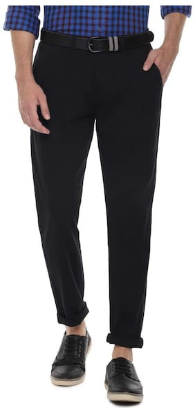 Men Regular Fit Regular Trousers Pack Of 1