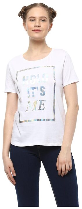 People Printed White T Shirt