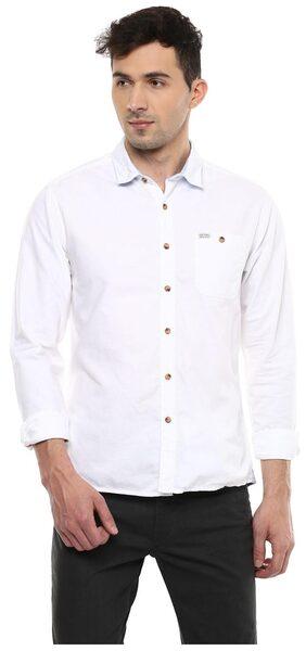 People Men Slim Fit Casual shirt - White