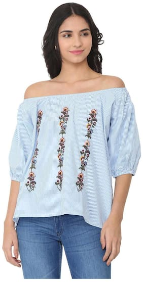 Women Embroidered Off Shoulder Top ,Pack Of 1