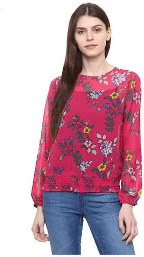 Women Printed Round Neck Top ,Pack Of 1