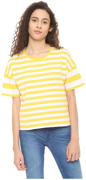Women Striped Round Neck Top