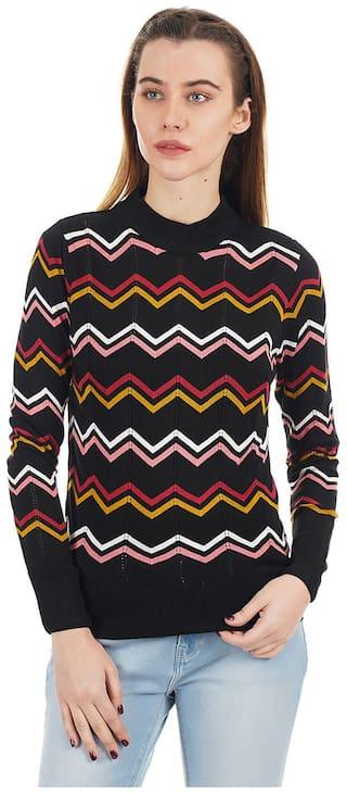 Pepe Jeans Women Printed Sweater - Black