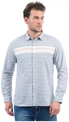 Men Regular Fit Horizontal Stripes Casual Shirt Pack Of 1